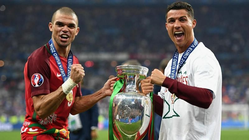 Pepe and Ronaldo have won two international trophies with Portugal.