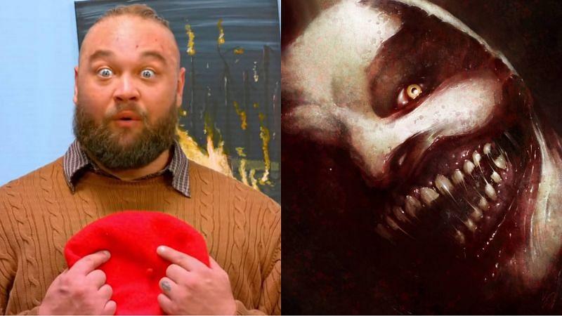 Bray Wyatt (left); The Fiend's mask (right)