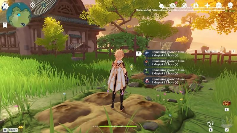 Gardening in realms is among the new content additions in Genshin Impact 2.0. (image via miHoYo)