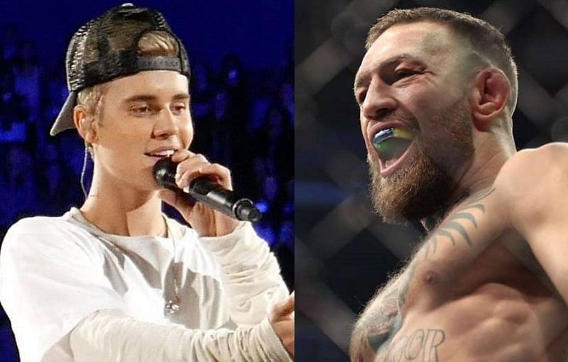 """""""We rule Beverly Hills"""" - 'Big Foot' Conor McGregor shares pictures with Justin Bieber while recovering from horrific leg break"""