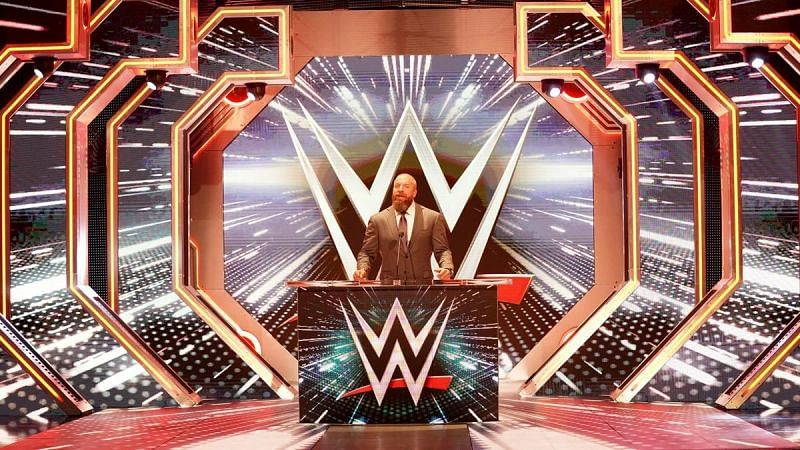 Triple H at the Crown Jewel press conference on Friday Night SmackDown