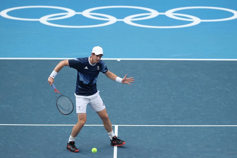 Andy Murray training in Tokyo