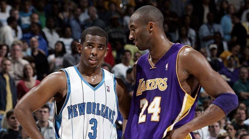 Chris Paul and Kobe Bryant in 2008