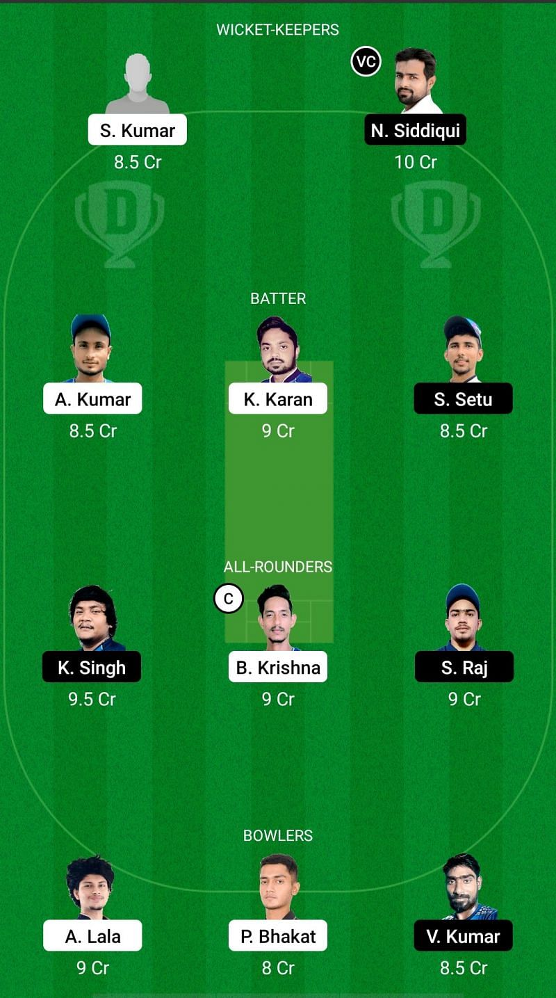 SIN vs DHA Dream11 Prediction - Jharkhand T20