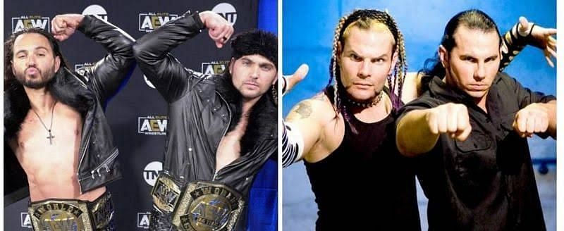 The Young Bucks and The Hardy Boyz