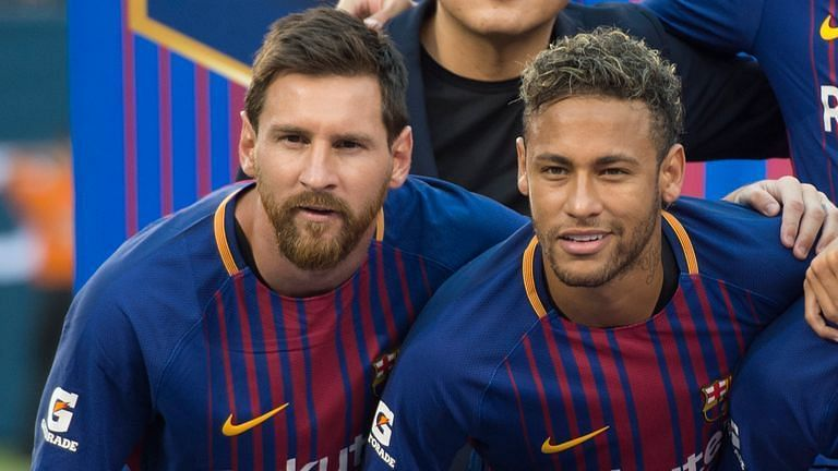 Neymar (right) and Lionel Messi