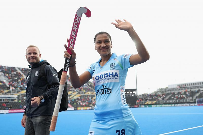 A file pic from India v USA at the FIH Womens Hockey World Cup