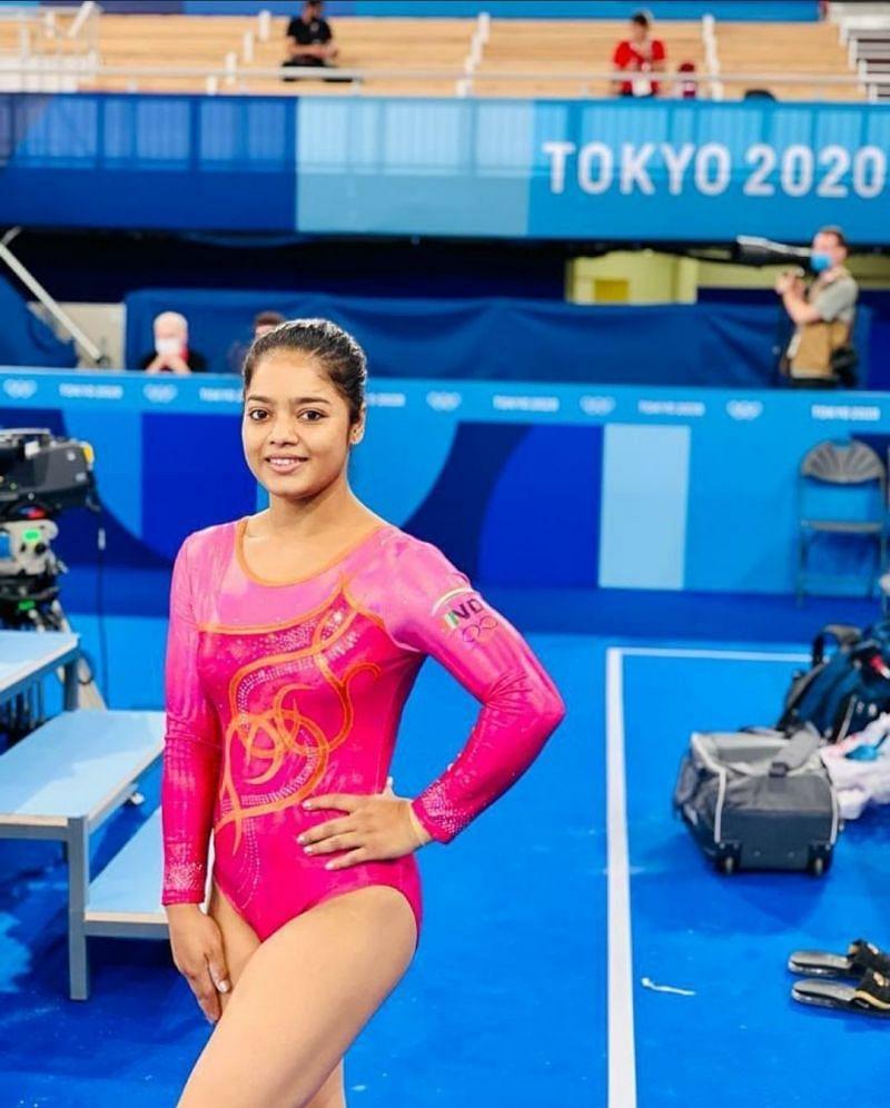 India's lone participant in gymnastics at Olympics 2021 [Image Credits: Pranati Nayak/Instagram]