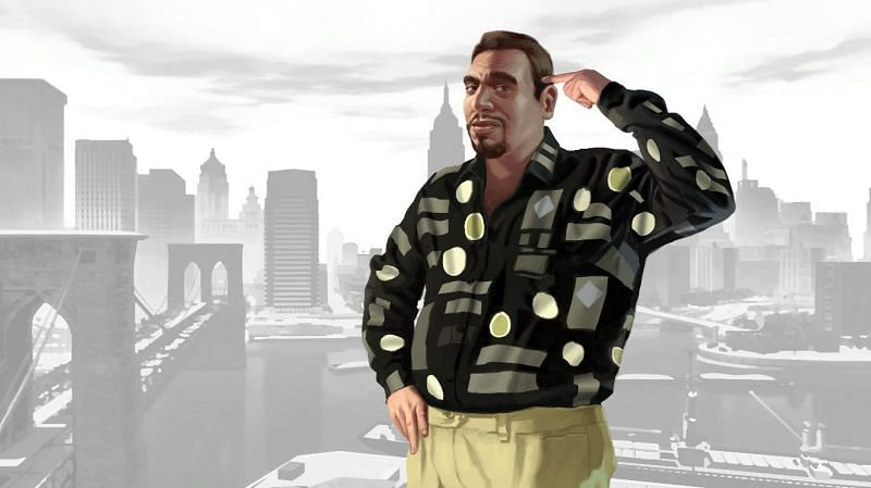 Roman Bellic is present throughout all of GTA 4's story (Image via Rockstar Games)