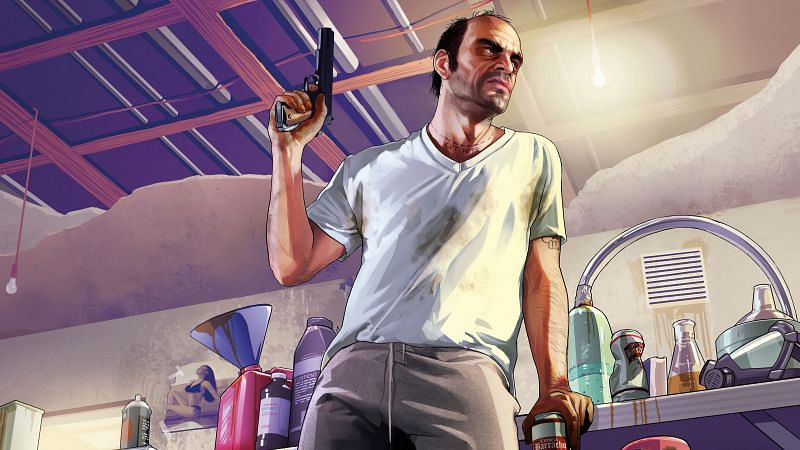 Trevor Philips showcases his intelligence several times in GTA 5 (Image via UHD Wallpapers)
