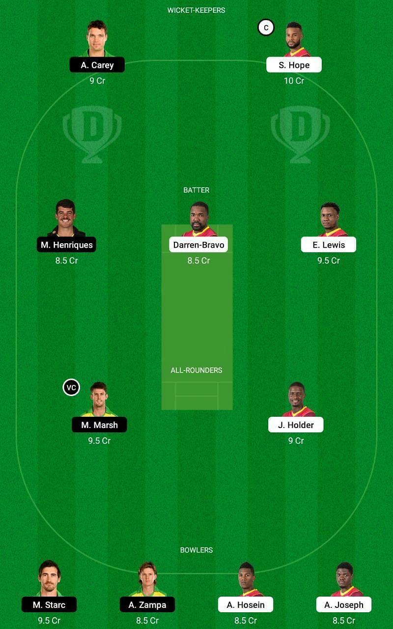 WI vs AUS 3rd ODI Dream11