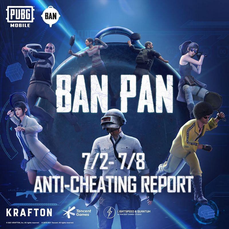 PUBG Mobile anti-cheating report(image via PUBG Mobile Twitter)