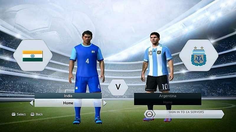India vs Argentina Friendly match in FIFA 14 (Image via EA Sports)