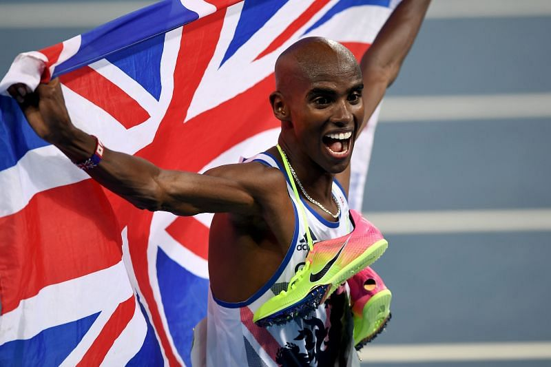 Mo Farah after winning the men's 5000m - 2016 Rio Olympics