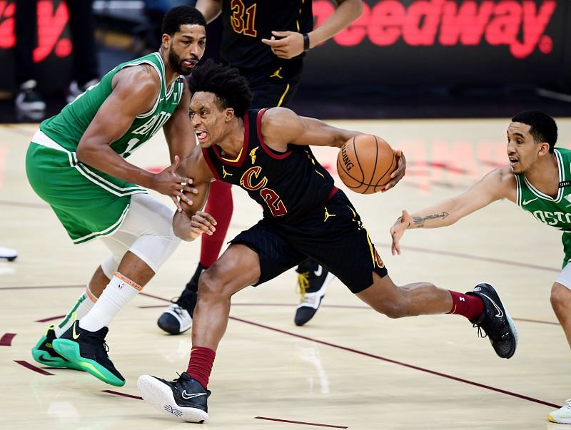 Collin Sexton (#2) of the Cleveland Cavaliers in action