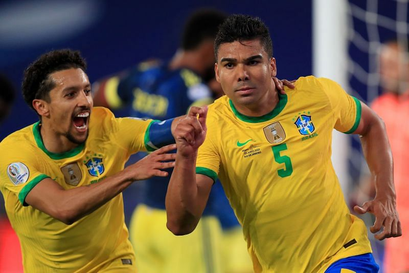 Casemiro's 100th minute goal v Colombia is lauded as one of the best goals in the tournament.