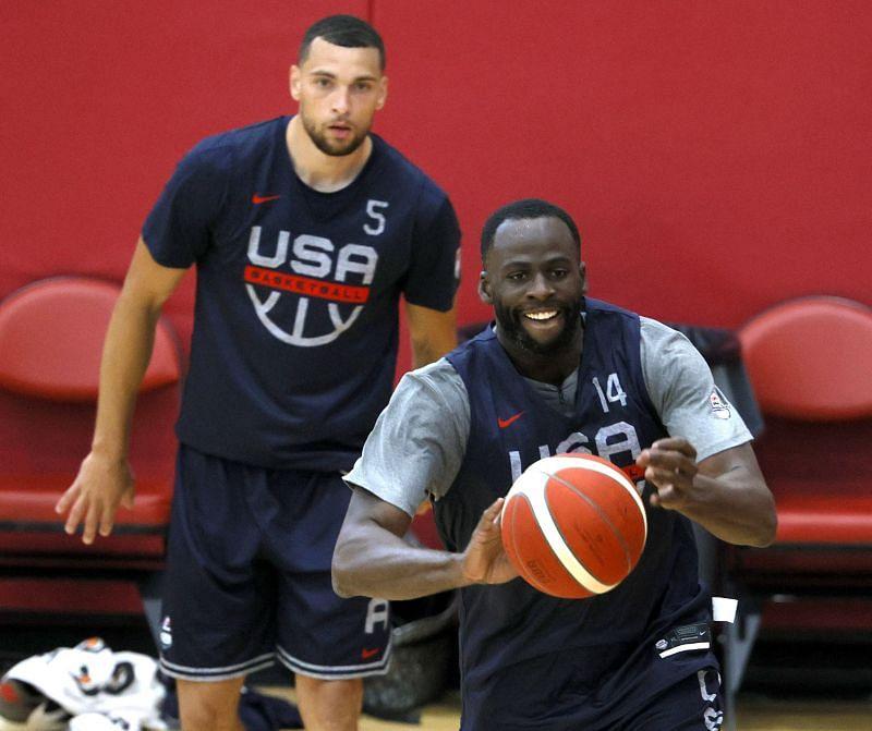Zach LaVine at a Team USA Basketball Training Session