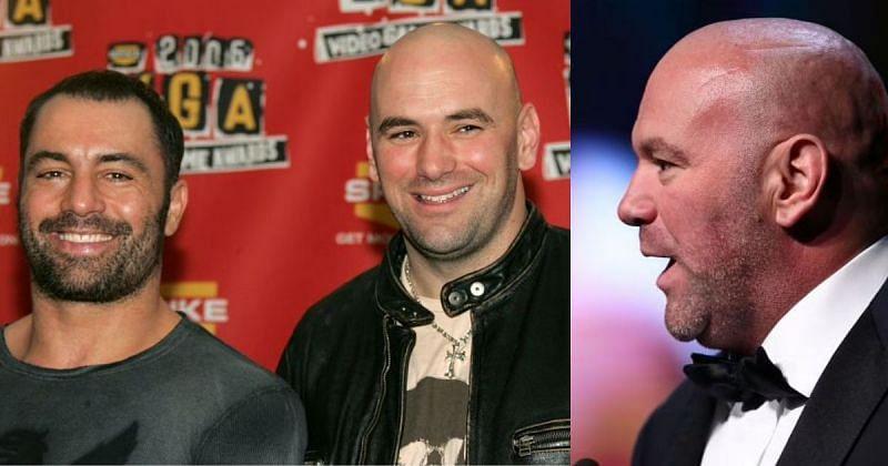 Dana White with UFC commentator Joe Rogan