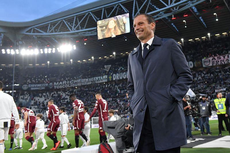 Juventus manager Massimiliano Allegri. (Photo by Tullio M. Puglia/Getty Images)