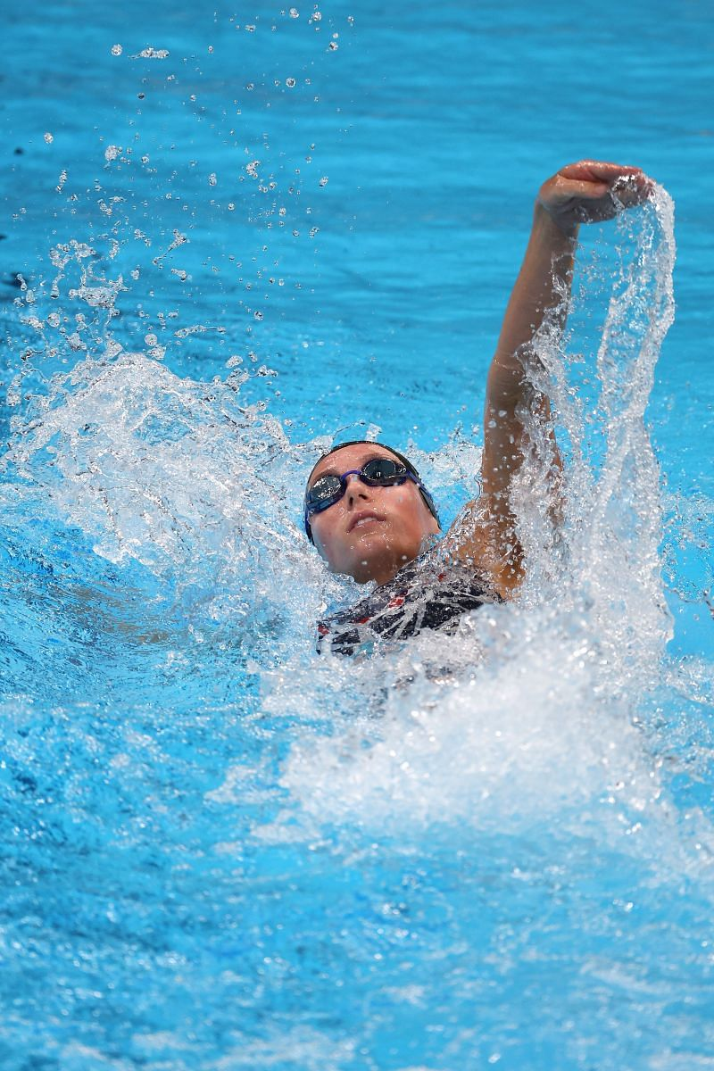 Alex Walsh of Team United States competes in the Women's 200m Individual Medley Semifinal 1 on day four of the Tokyo 2020 Olympic Games