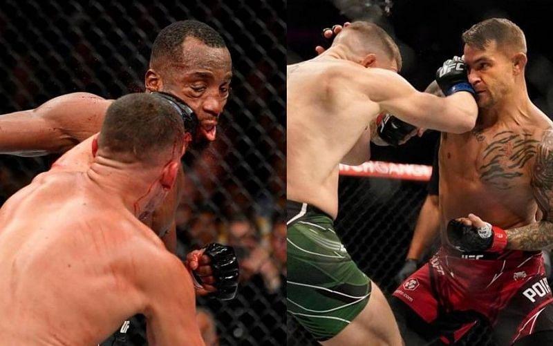 Nate Diaz vs. Leon Edwards (left); Conor McGregor vs. Dustin Poirier (right)