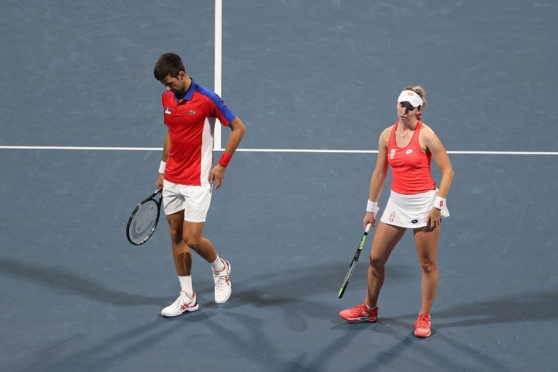Novak Djokovic and Nina Stojanovic will now compete for the bronze medal in mixed doubles