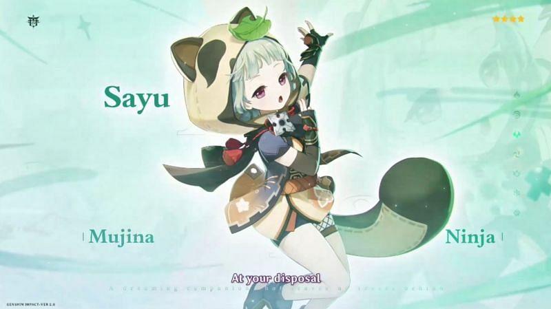 Sayu is a 4-star Anemo character in Genshin Impact (Image via miHoYo)