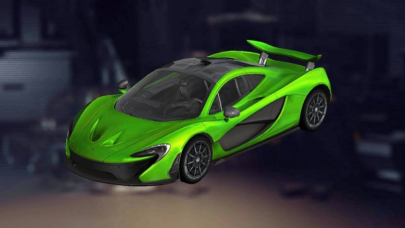 McLaren P1 car skin is available for free (Image via Free Fire)