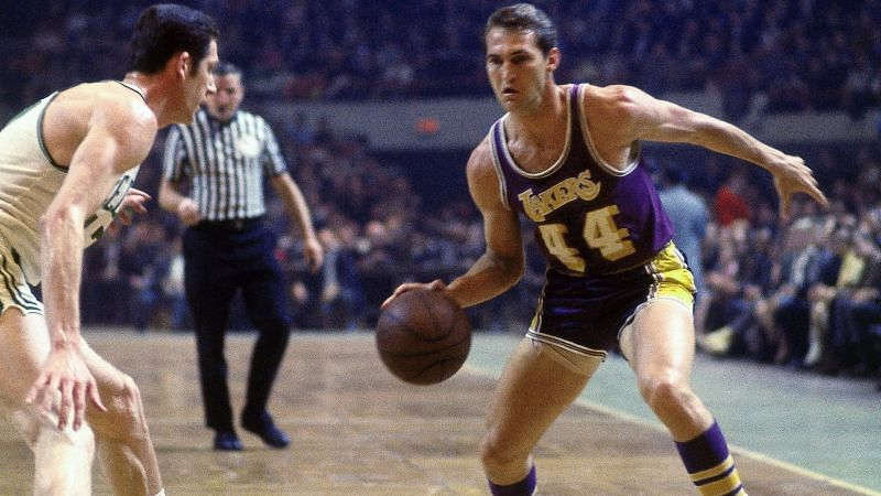 Jerry West of the LA Lakers in the 1969 NBA Finals