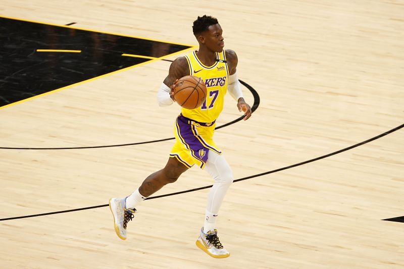 Dennis Schroder #17 of the Los Angeles Lakers