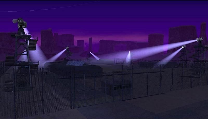 Bone County is instantly recognizable for its purple night skies (Image via GTA Wiki)