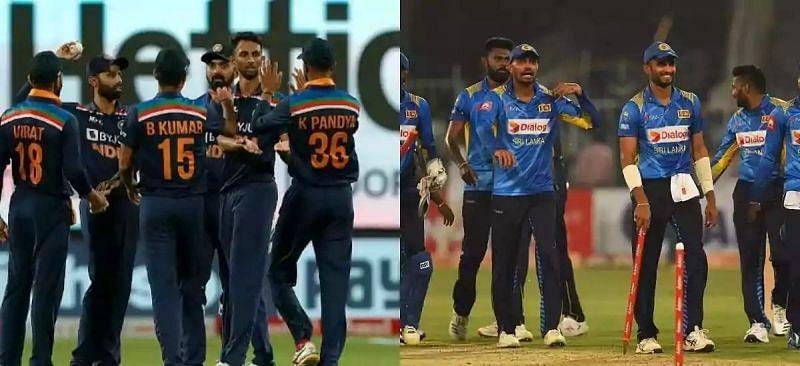 भारतीय टीम और श्रीलंका टीम
