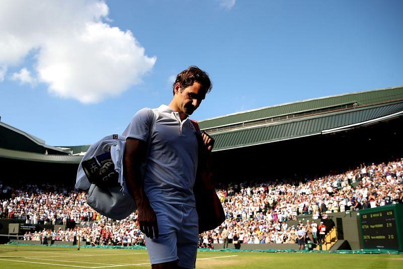 Roger Federer at Wimbledon 2018