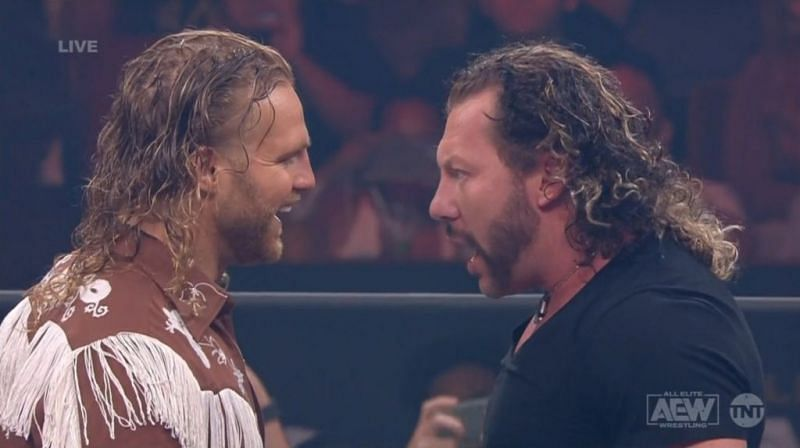 Hangman Page confronting Kenny Omega!