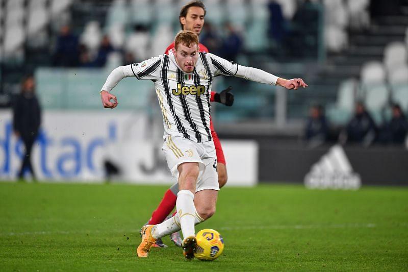 Kulusevski in action for Juventus