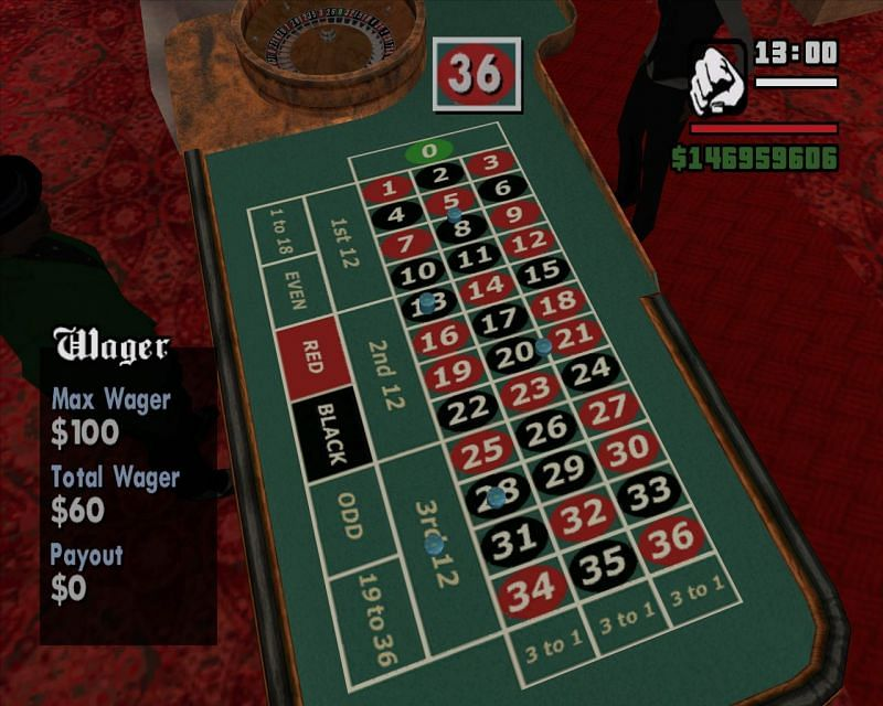An example of a player with no gambling skill (Image via GTA Wiki)