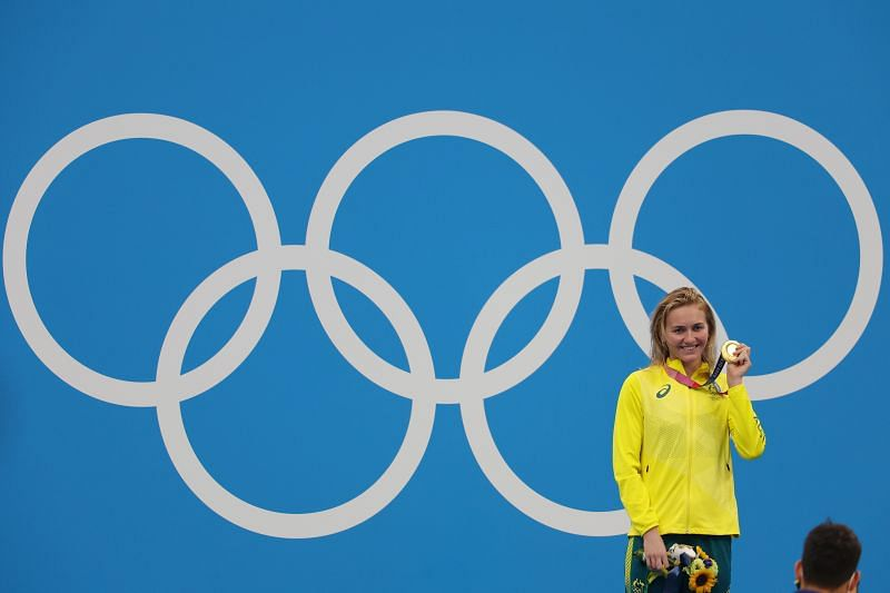 Swimming - Olympics: Day 3 - Australia's Ariarne Titmus won gold in 400m women's freestyle final by beating USA's Katie Ledecky