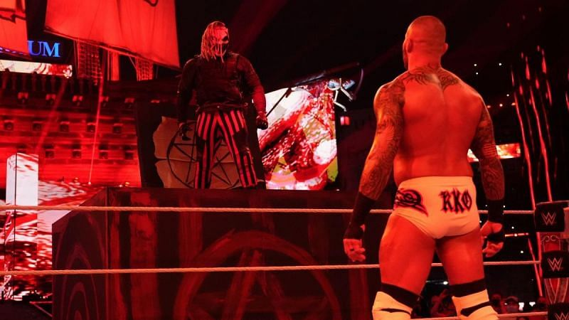 The Fiend and Randy Orton at WrestleMania 37