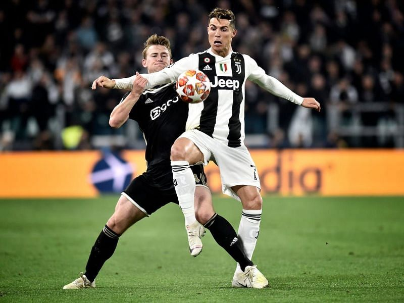 Matthijs de Ligt (left) and Ronaldo are now teammates at Juventus.