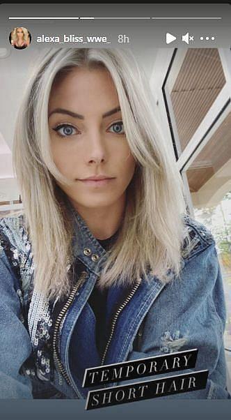Alexa Bliss showed off her short hair on Instagram