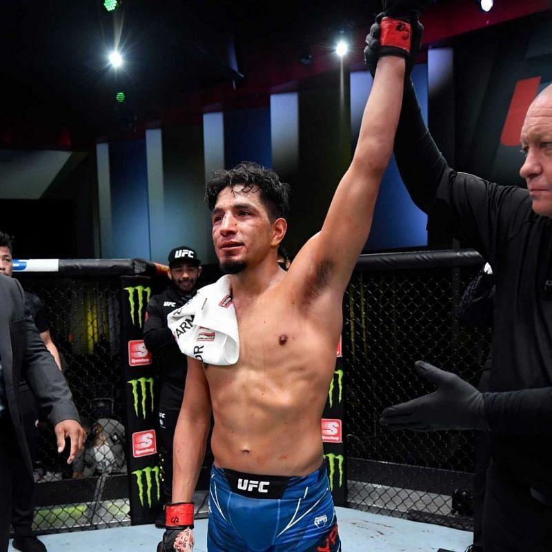 Adrian Yanez defeats Randy Costa at UFC Vegas 32 [Image credits: @ufc on Instagram]