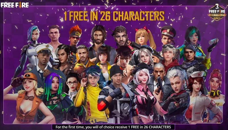 The 3rd-anniversary event featured lots of free rewards, including a permanent character for free