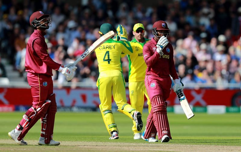Australia and West Indies played their last ODI match during the 2019 Cricket World Cup.