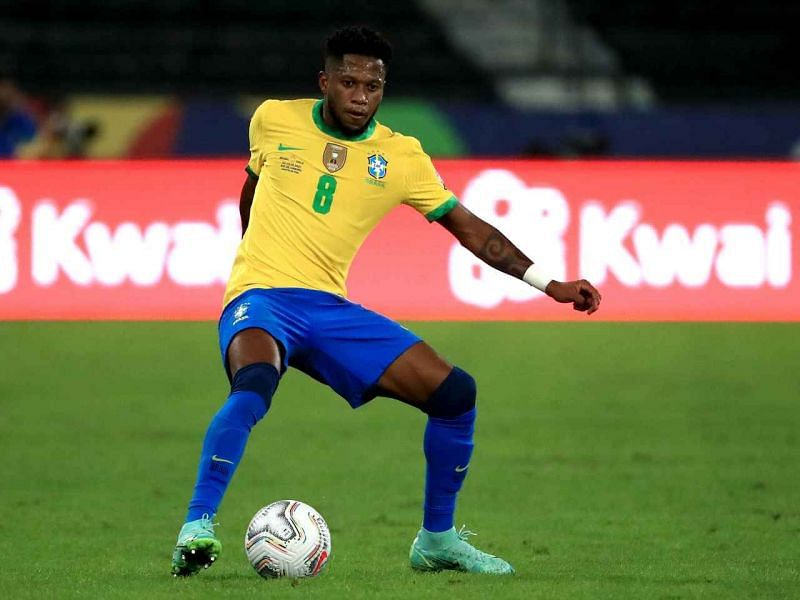 Fred was taken off at half-time for picking up a yellow