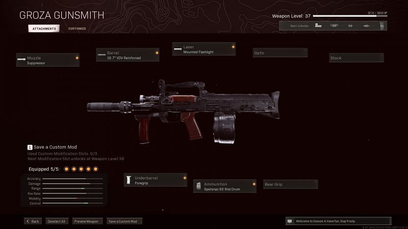 The best Groza loadout for Call of Duty: Warzone Season 4 Reloaded