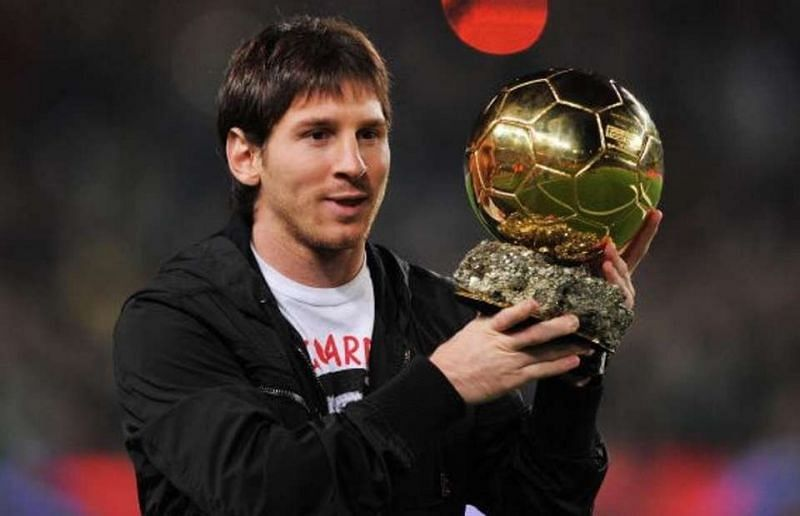 Lionel Messi won his first Ballon d