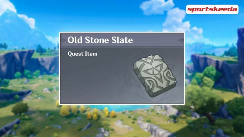 Quest Item Old Stone Slate (Image via Sportskeeda)