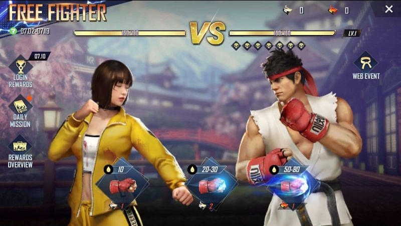Free Fighter event in the game
