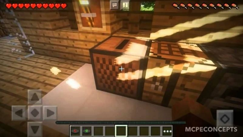 A jukebox being highlighted by some beautiful shaders (Image via HenryAndroid on YouTube)