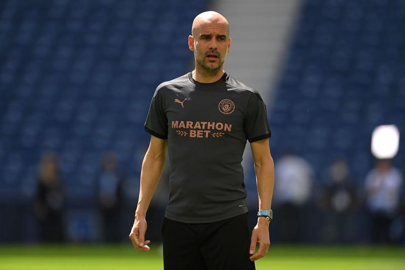 Manchester City manager Pep Guardiola. (Photo by David Ramos/Getty Images)